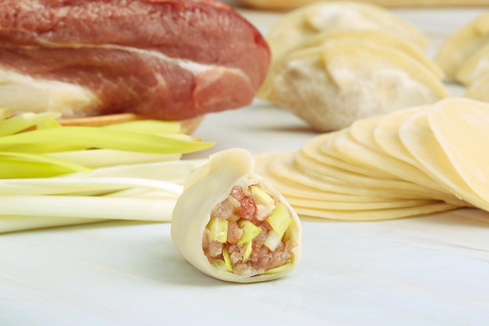 韭黄鲜肉饺