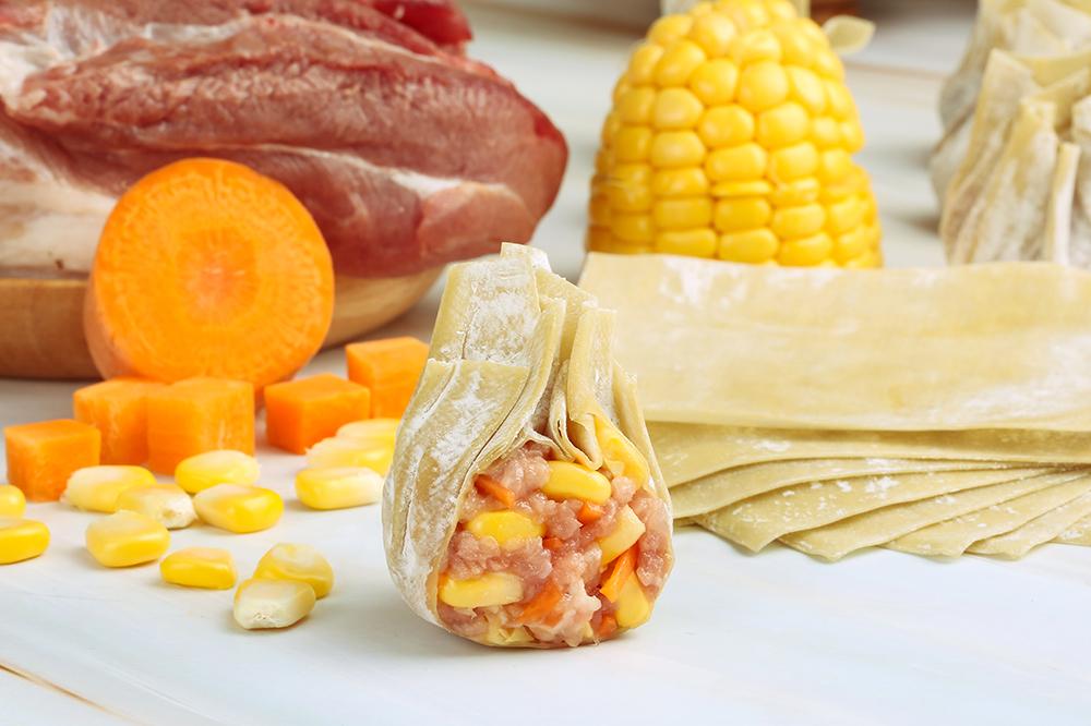 玉米鲜肉云吞