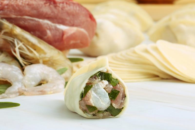 韭菜三鲜饺